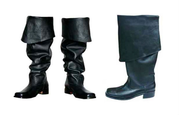 bucket pirate boots for hire