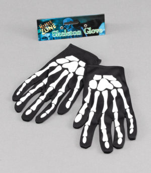 "Skeleton Gloves 9"" 23 cm Bone Print Fabric"