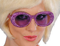 60's'-Glitter-Purple-Specs