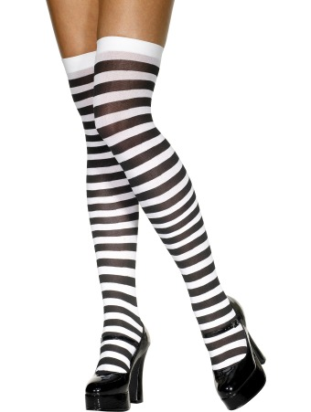 Black-and-White-Striped-Stockings--Socks