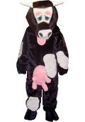 Deluxe 1 person Cow Costume fancy dress hire