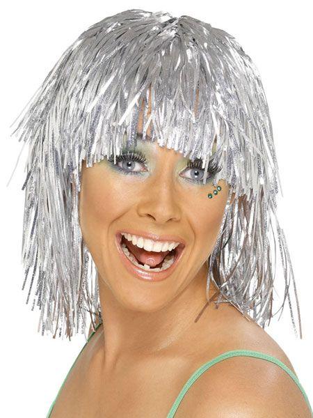 Silver-Tinsel-Wig