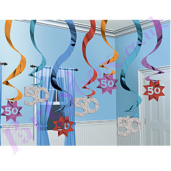 Hanging-Swirl-50th-Party-Decoration
