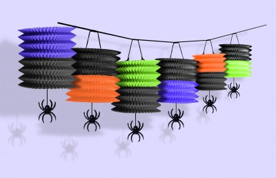 Fun-Pumpkin-Lantern-Garland-with-Spiders