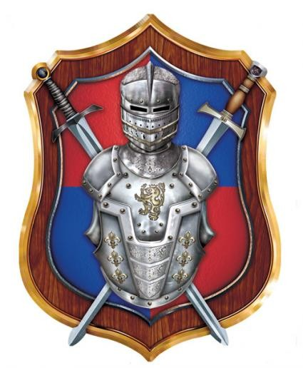Medieval-Knight-and-shield-decoration.