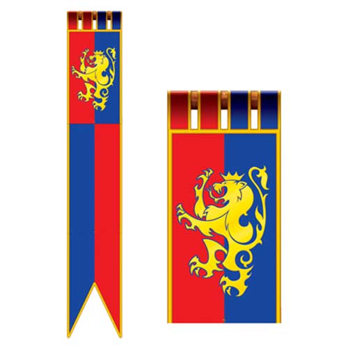 Blue-and-Red-Medieval-Banners