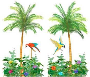 Palm-Tree-&-Parrot-Decoration-Scene-Setter