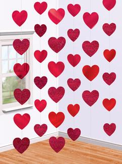 Red-Heart-Hanging-decoration-strings