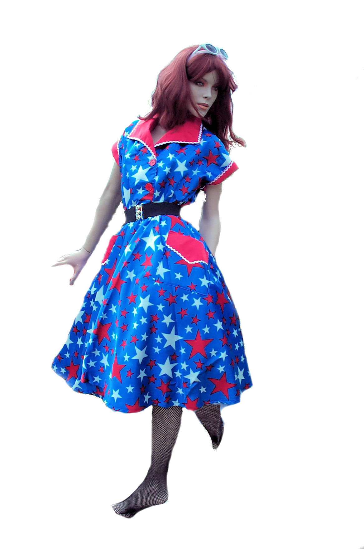 50's-stars-&-stripes-dress