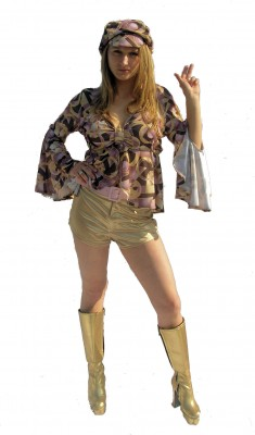 60's-70's-swirl-top-and-gold-hot-pants.