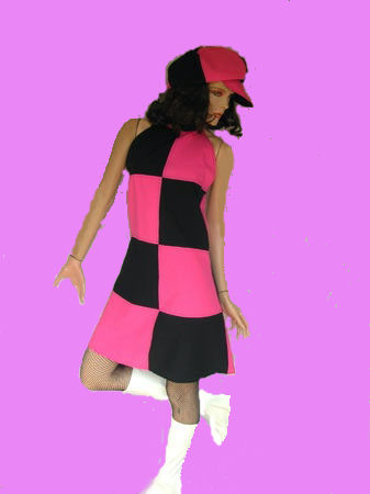 60's-Tessa-pink-&-black-60's-Mary-Quant-S-M