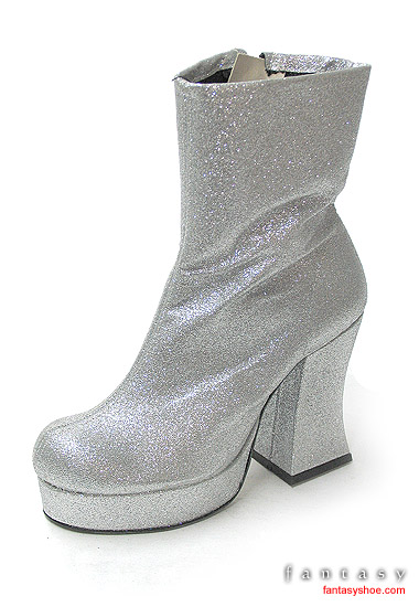 Glitter-Silver-Platform-Ankle-Boot