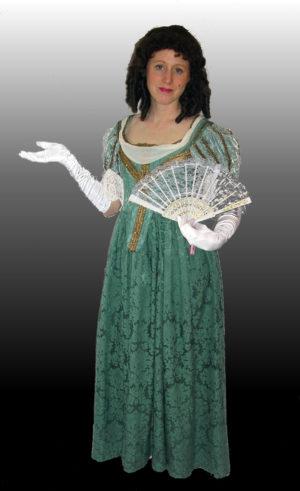 Charles-1-dress-green-damask