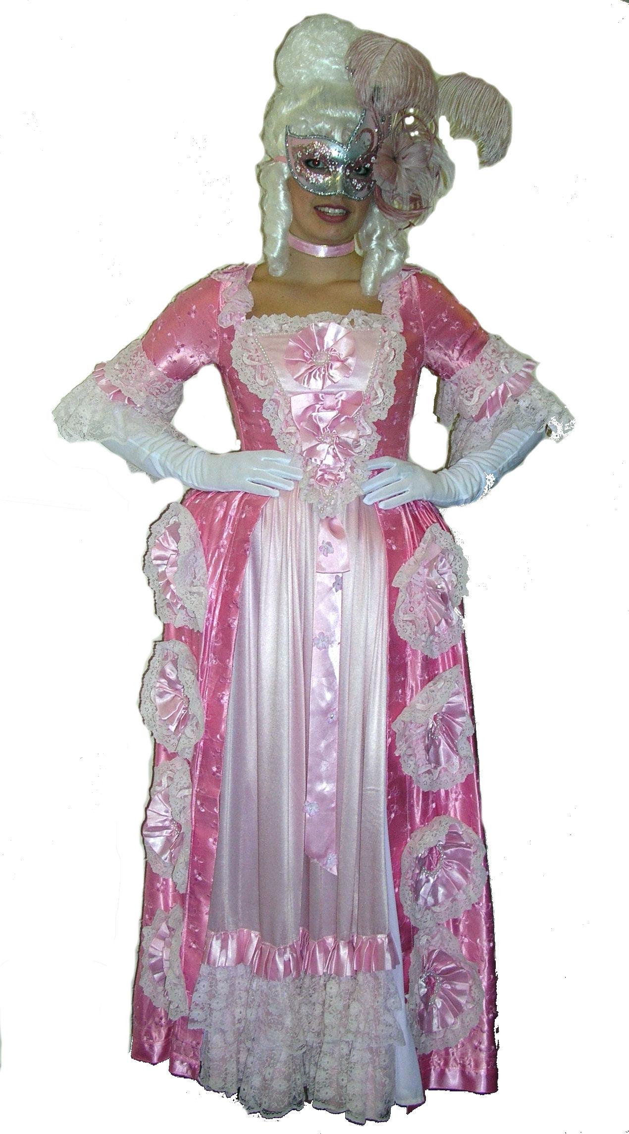 Georgian-dress-pink-rosette