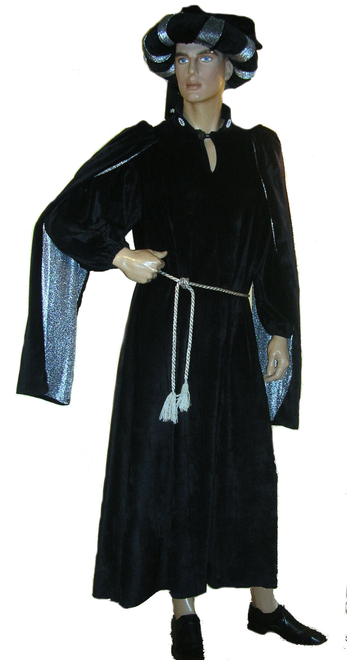 Medieval-man's-black-robe