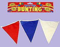 Traditional Red White and Blue Bunting 7m Nylon