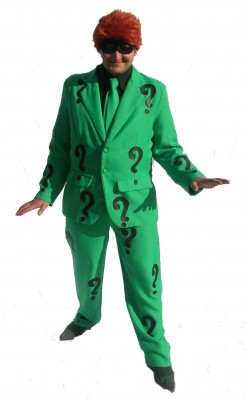 Green-suit-with-question-marks-the-Riddler