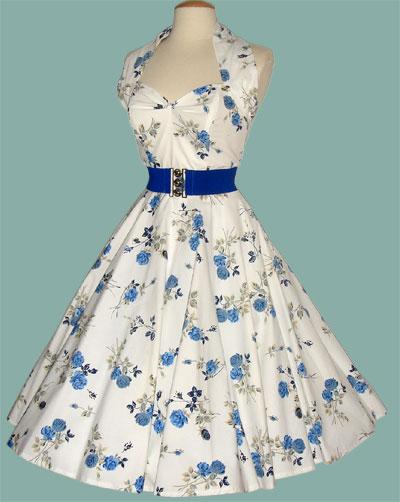 Royal-Rose-Blue-Halterneck-50's-Dress-&-Bolero