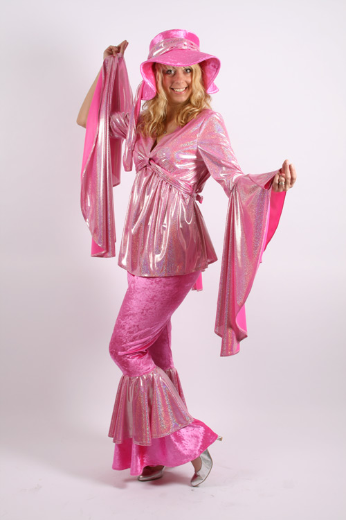 Pink-and-Silver-2-piece-Abba-Suit