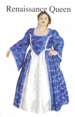 Renaissance-Queen-Blue---silver-XL