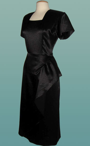 Black-Satin-Burlesque-Dress