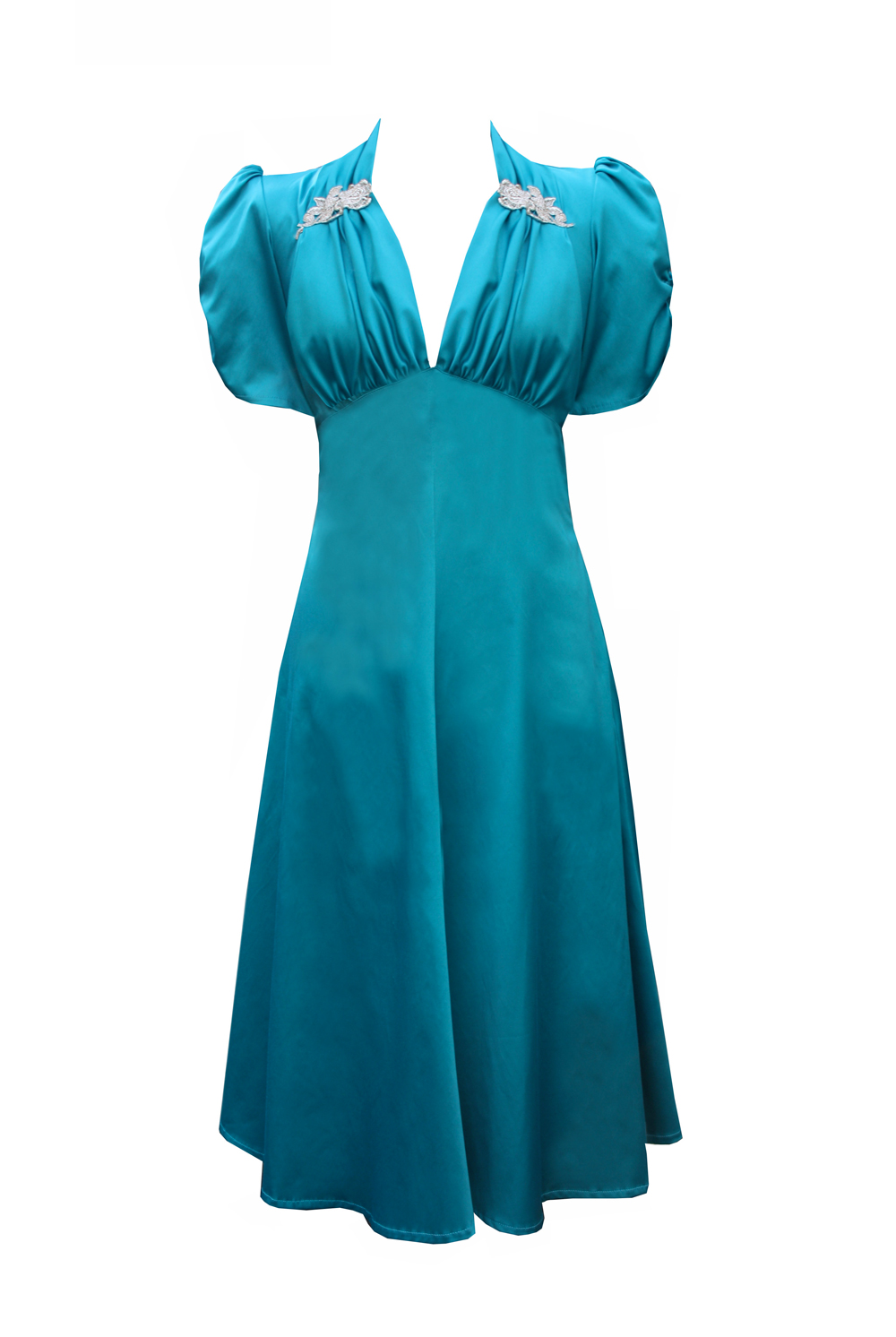 Turquoise-40's-Starlet-Dress