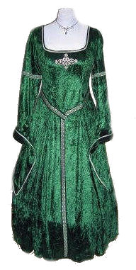 Green-silver-Medieval-Renaissance-Gown