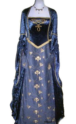Blue-gold-medieval-tudor-gown