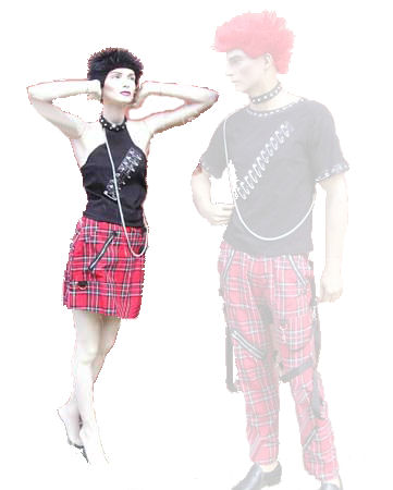 Punk-girl-with-skirt
