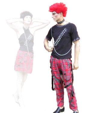 Hire 80s Male Punk Costume Tartan Fancy Dress