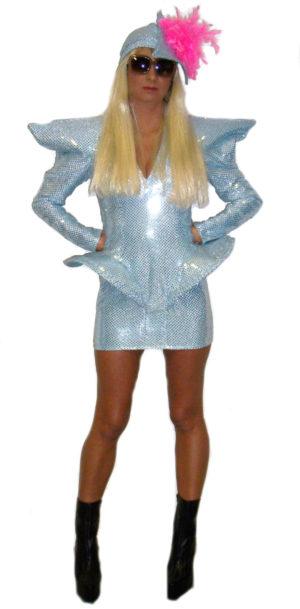 Lady-Gaga-Silver-Fancy-Dress