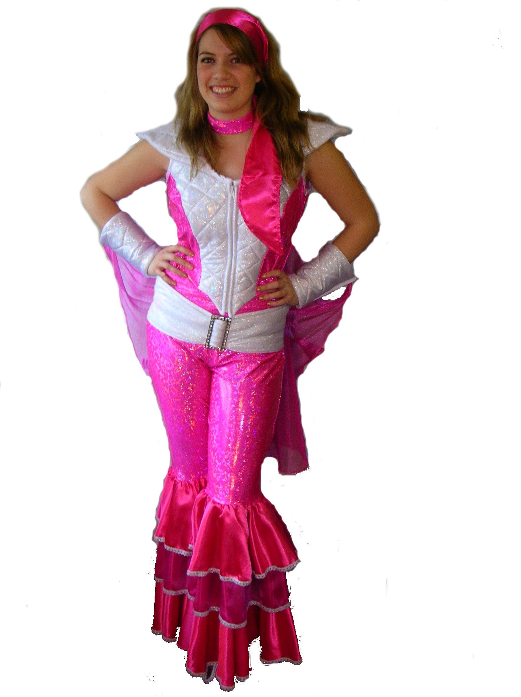 Hot-pink-Glitter-Abba-suit