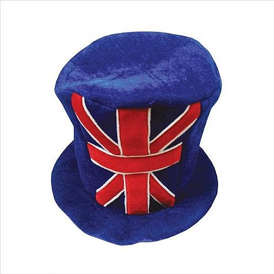 Union Jack Felt Top Hat