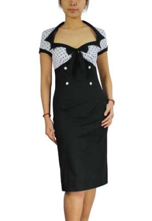 40s_black_white_wiggle_dress