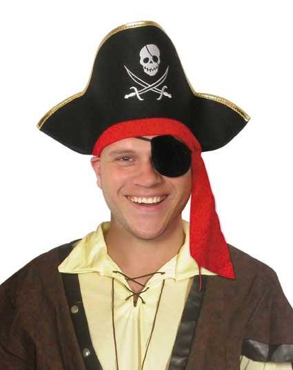 Pirate-hat-gold-trim-red-tie