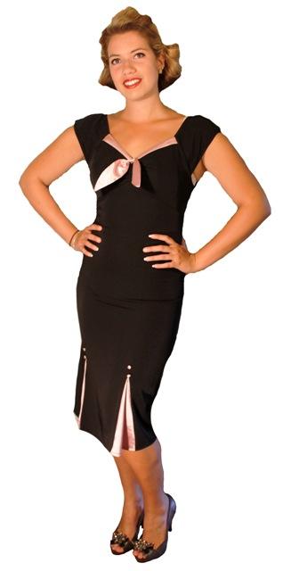 40s_black_pink_wiggle_dress