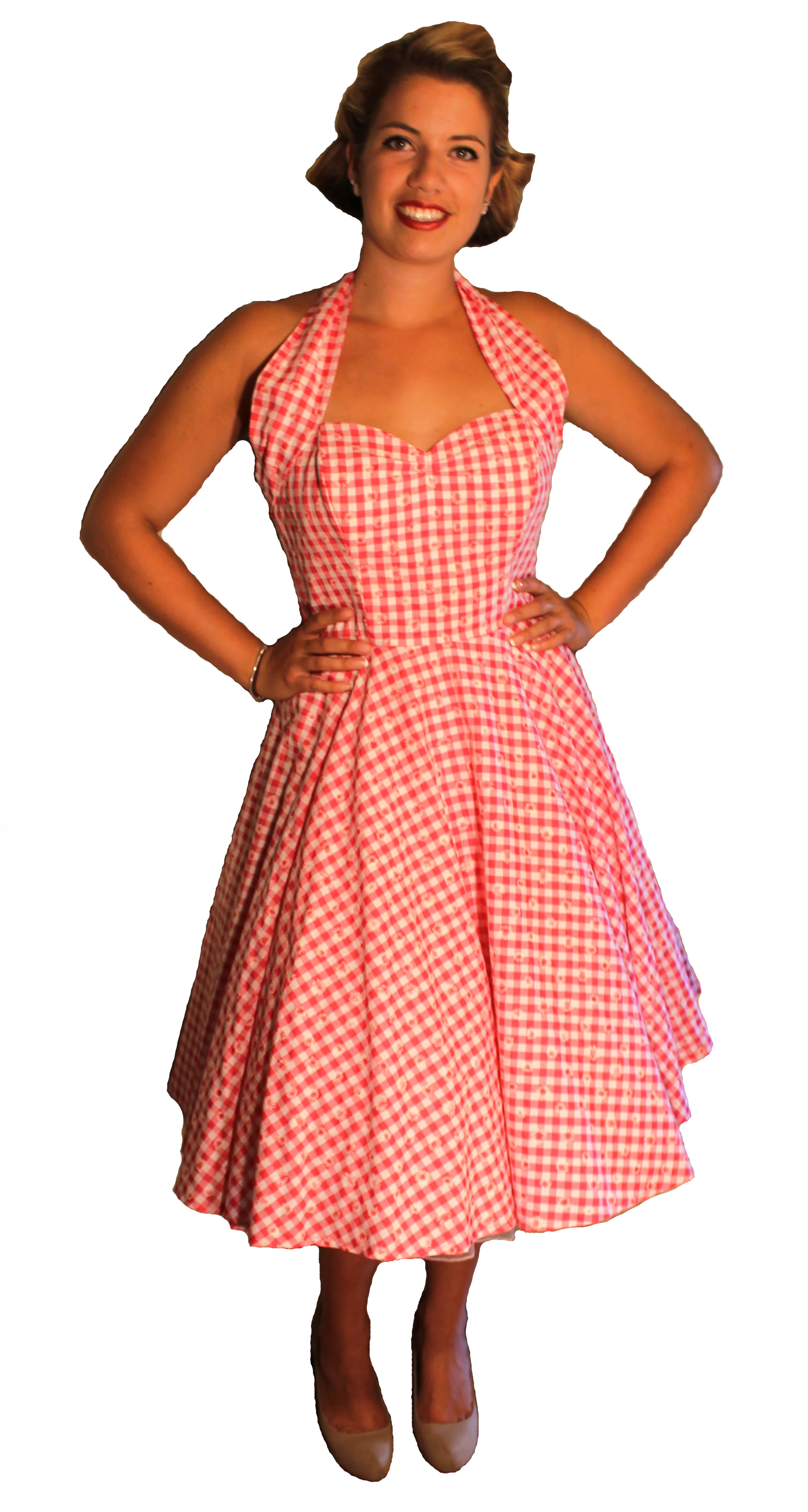 50s_gingham_swing_Dress
