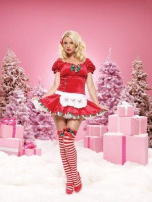 Womens Christmas Costume Candy Cane Cutie, Leg Avenue