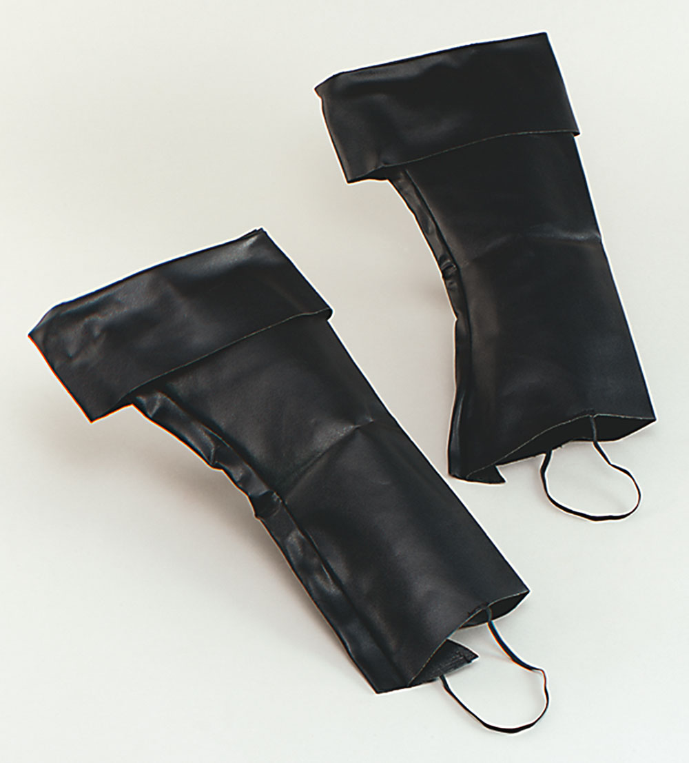 PIRATE BOOT COVERS Tops Black Mens + Womens Fancy Dress Costume Accessory