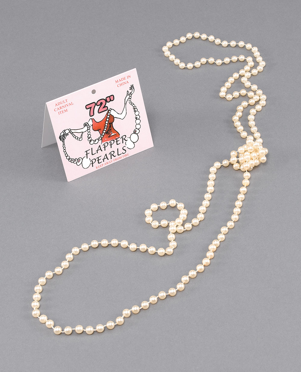 """Flapper Beads 72"""" 1920s Pearl Necklace"""