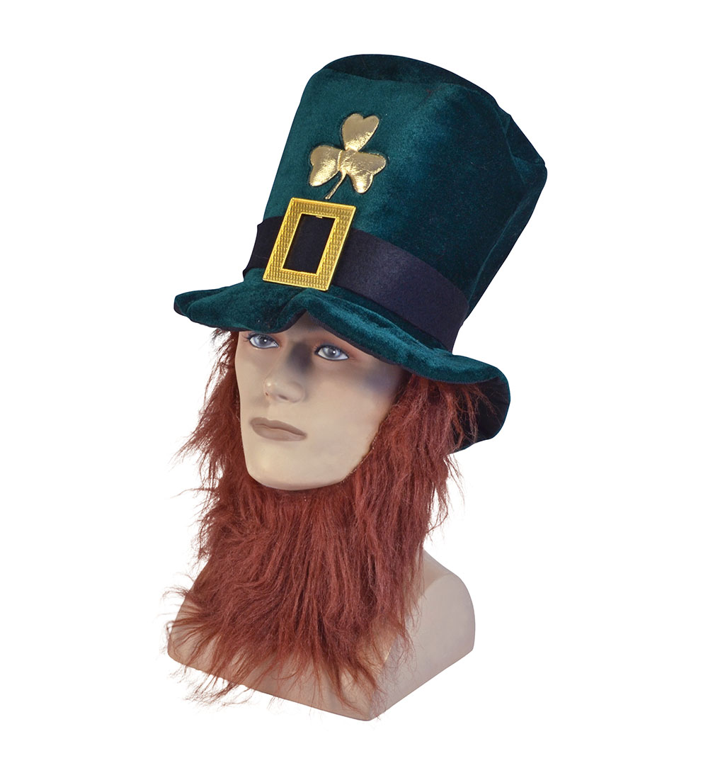 Irish Hat with Beard Leprechaun Hat St Patricks Hat