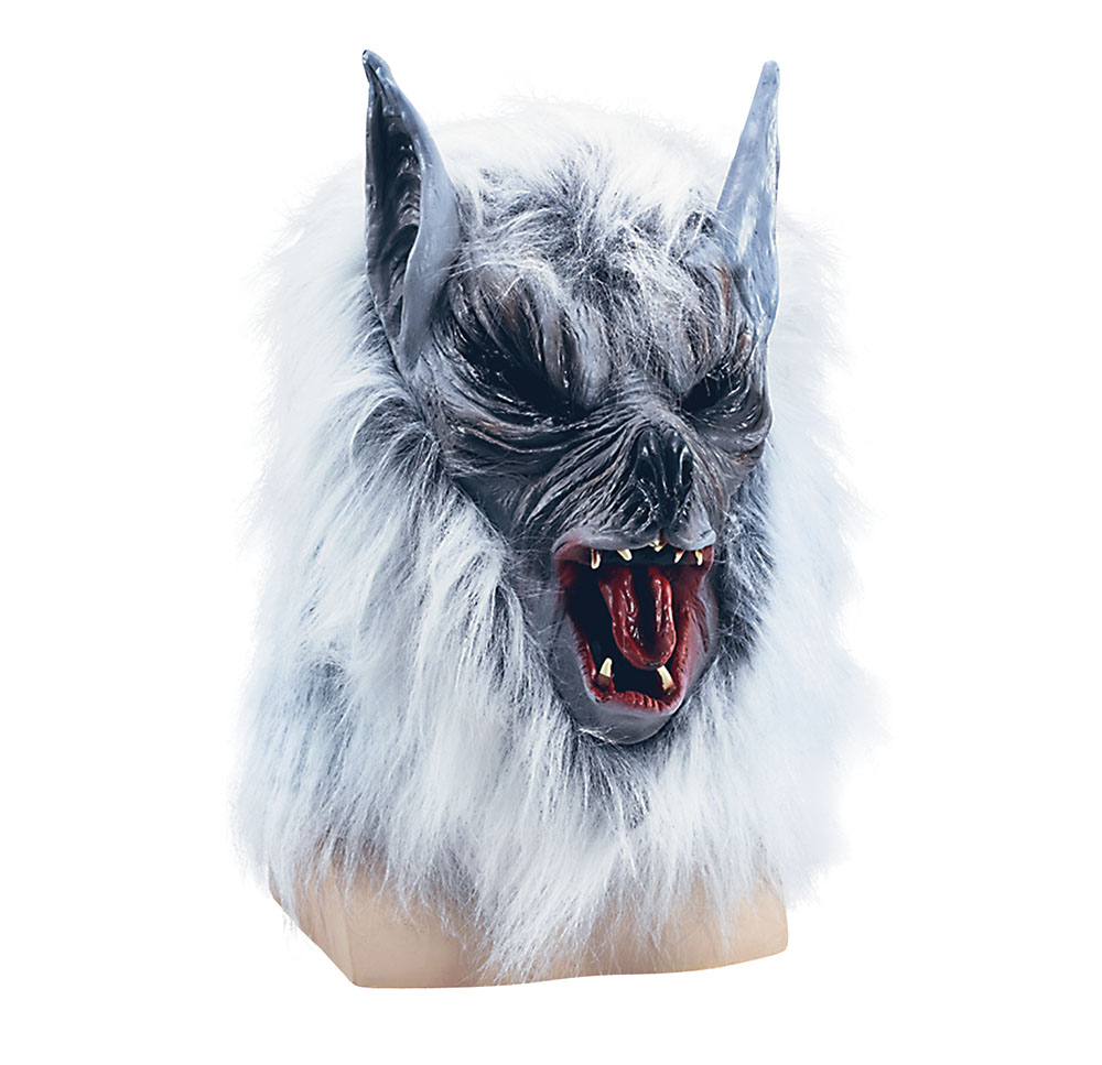 Adult Howling Grey 'Killer' Wolf Mask