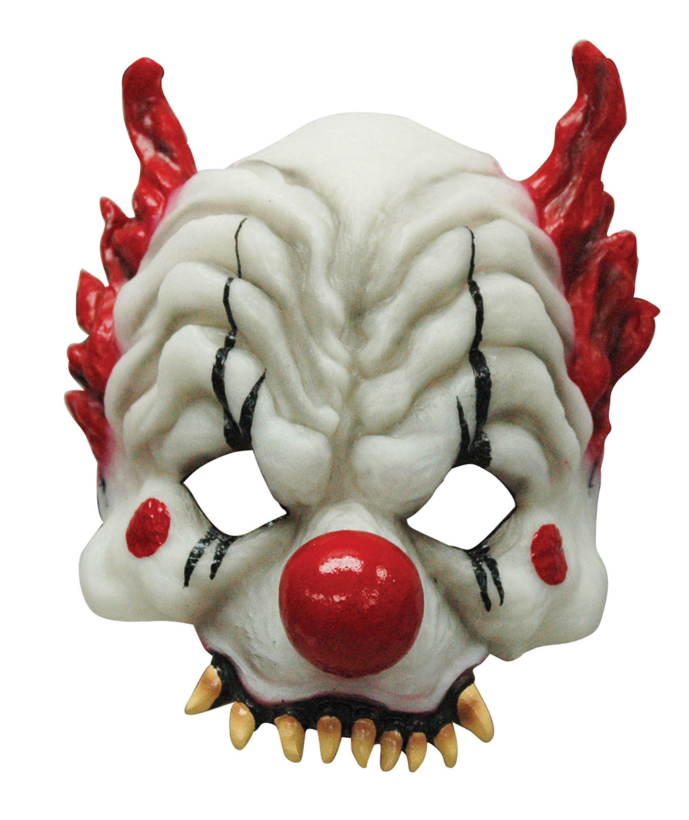 Horror Clown Half Face Masks Glow In the Dark