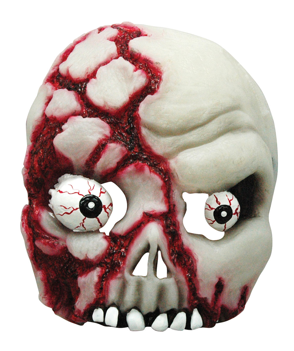 Bloody Skull Half Face Mask Glow in the Dark