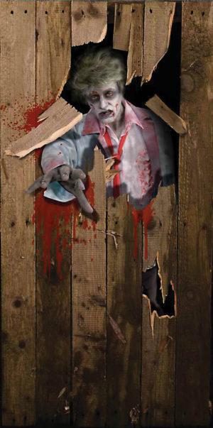 Halloween Door Poster Dead Zombie 3' X 6' Room Decoration