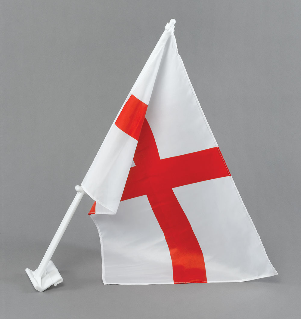 2 x St George Car Window Flag Fifa World Cup Car Flags 30x45cm