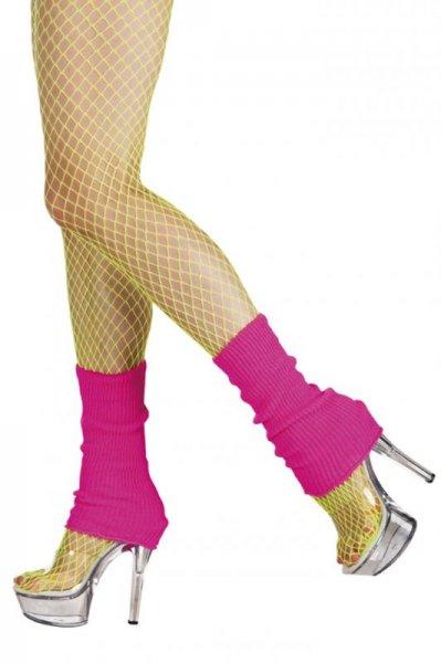 Hot Pink Leg Warmers 1980s Fancy Dress Accessory