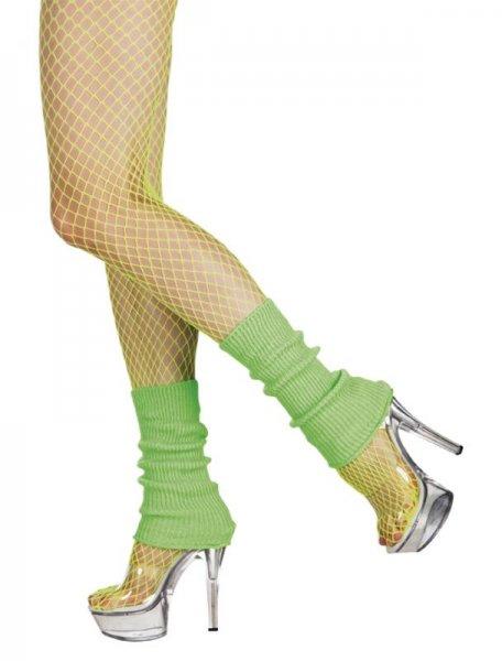 Neon Green Leg Warmers 1980s Fancy Dress Accessory