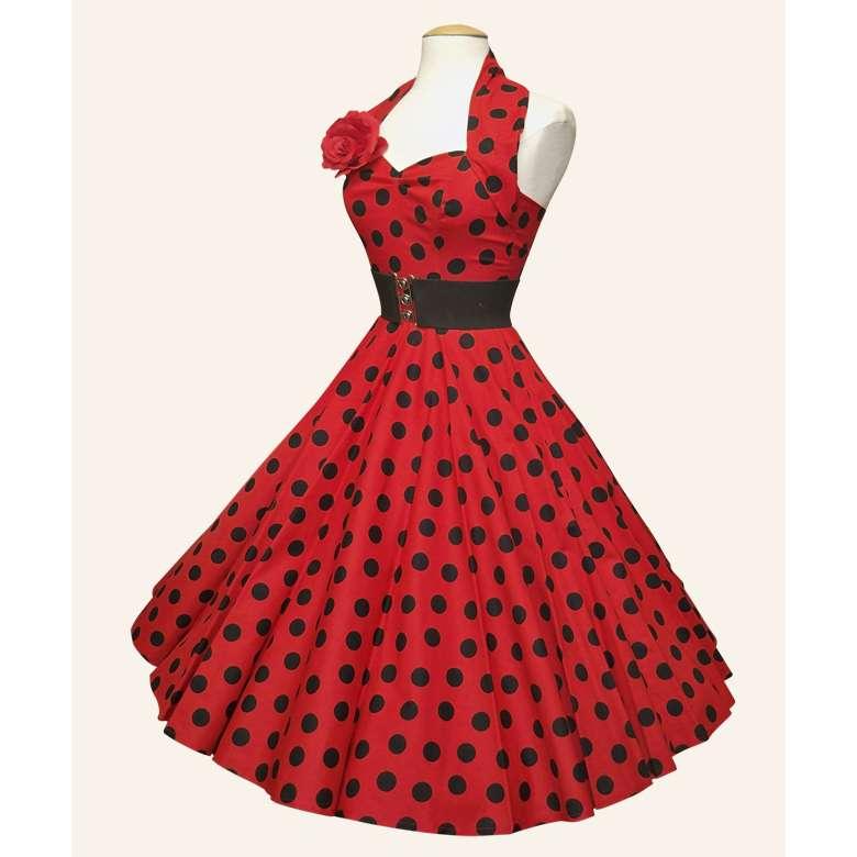 stunning_red_black_polka_dot_50s_swing_dres