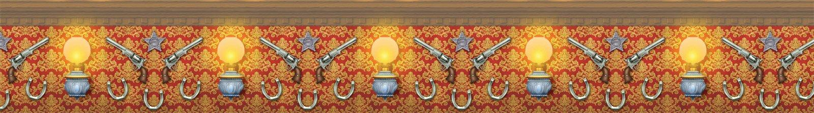 WILD_WEST_BORDER_ROLL_WITH_REVOLVERS_AND_LAMPS